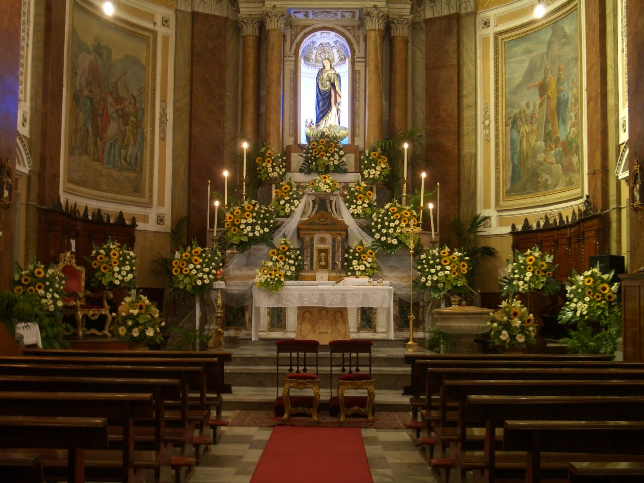 Girasoli Matrimonio Chiesa : Addobbi chiesa matrimonio con girasoli migliore