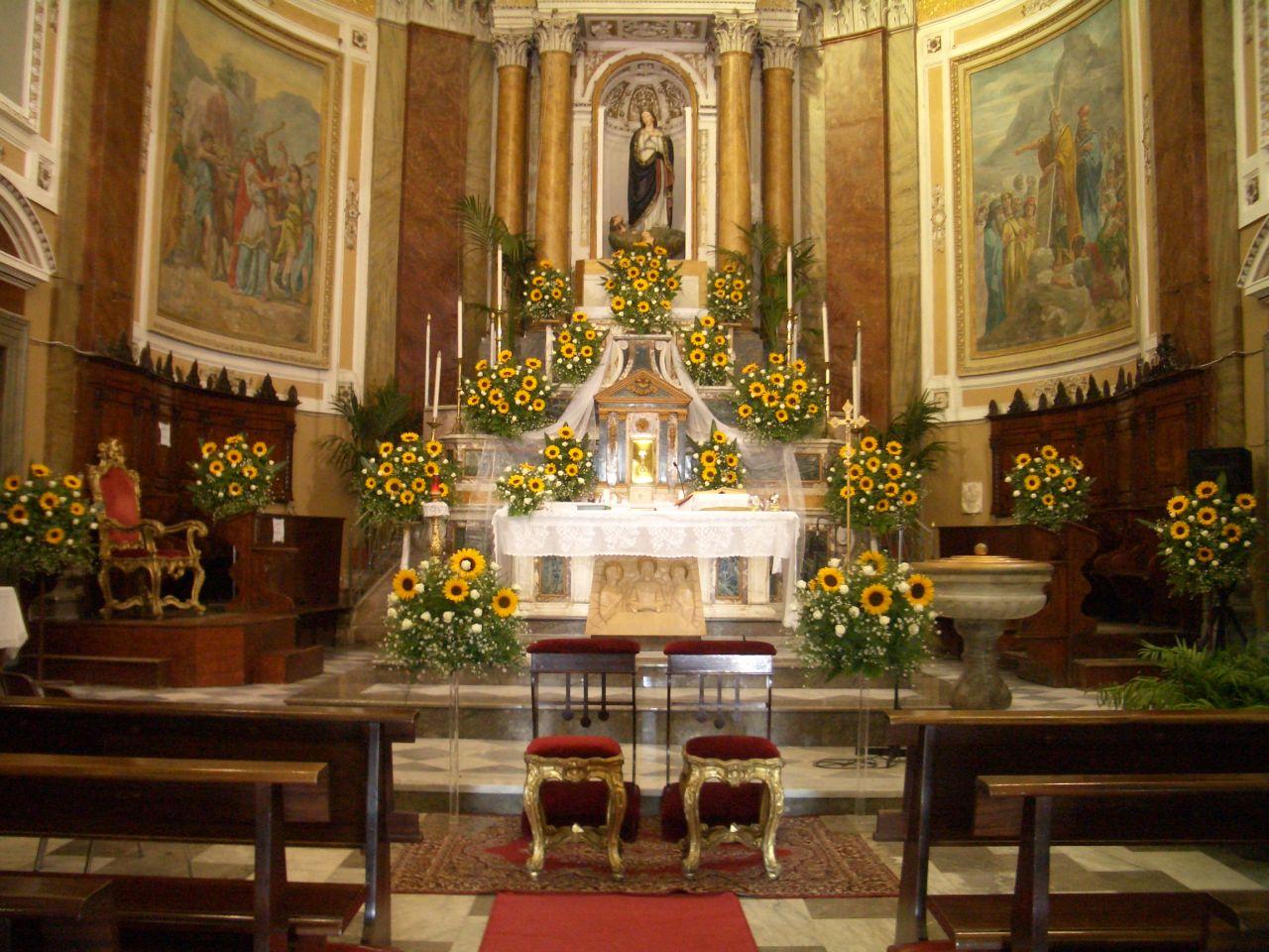 Addobbi Chiesa Matrimonio Girasoli : Moncada piante fiori e addobbi addobbo con girasoli